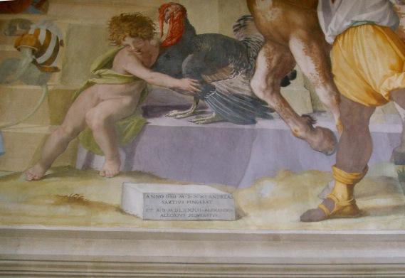 Villa_di_Poggio_a_Caiano,_sala_di_Leone_X,_Andrea_del_Sarto_e_Alessandro_Allori,firma