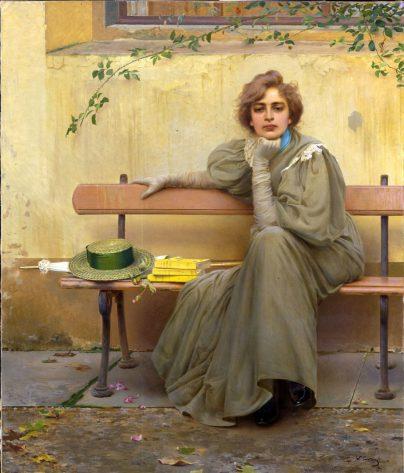 gamp Vittorio-Corcos-Sogni-1896-Roma-Galleria-Nazionale-d_Arte-Moderna-Aurelia-Residence-San-Pietro