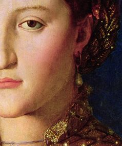 1 Agnolo Bronzino - Eleonora di Toledo, dettaglio - 1543 -National Gallery in Prague