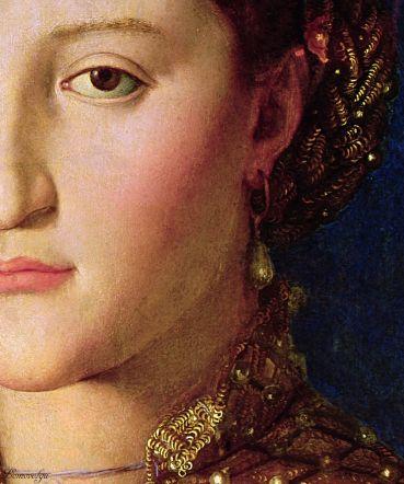 1 Agnolo Bronzino - Eleonora di Toledo, dettaglio - 1543 -National Gallery in Prague